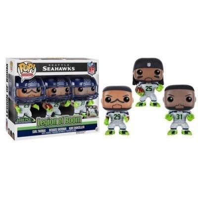 Funko Pop NFL Seattle Seahawks Legion of Boom (Thomas, Sherman and Chancelor) 3-Pack