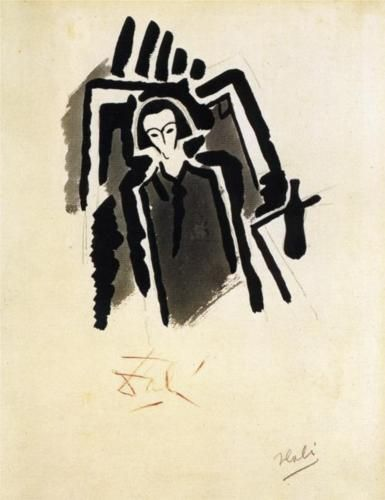 Salvador Dali (1904 - 1989) | Expressionism | Self-Potrait - 1923
