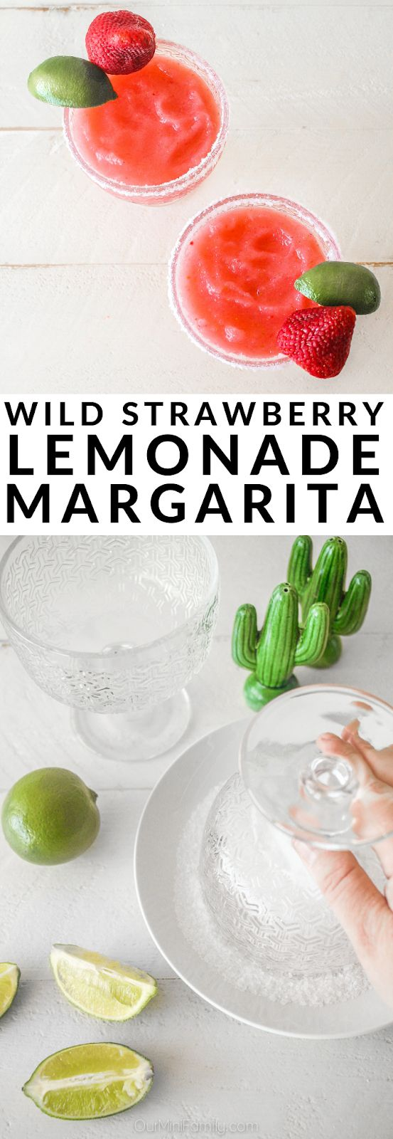 These strawberry lemonade margaritas are so yummy and perfect for a late afterno…