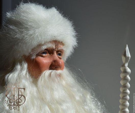 """Коллекционные куклы ручной работы. Ярмарка Мастеров - ручная работа. Купить Авторская художественная кукла """"Дед Мороз"""".. Handmade. белый"""