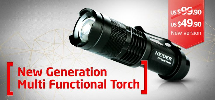 High power torch - 300m Lighting Distance- Ultra bright CREE Q5 serie high power LED and lighting performance up to 300 meters. 3-stage normal illumination variable output.