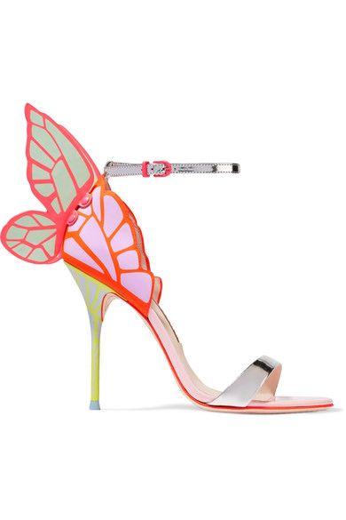 Sophia Webster - Chiara Metallic Patent-leather Sandals - Pink - IT