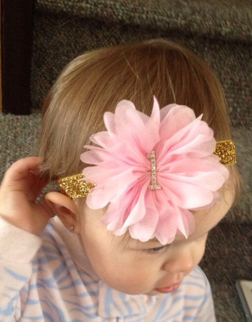 Custom .... Pink and gold headband pink and gold by KenzeesKloset