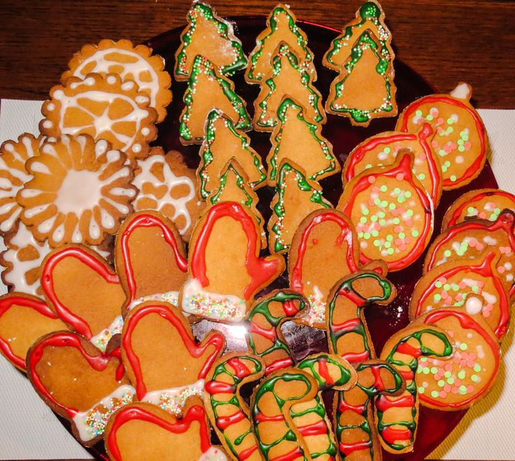 Homemade Gingerbread christmas cookies