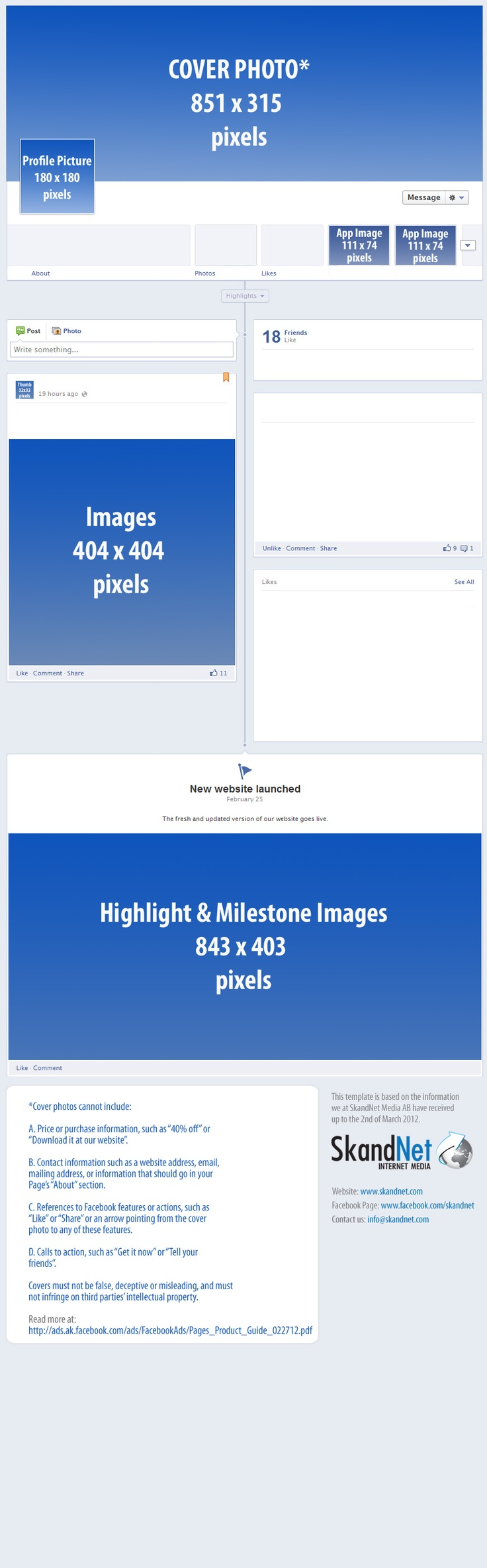 New Facebook Pages - Size recommendations for perfect images every time