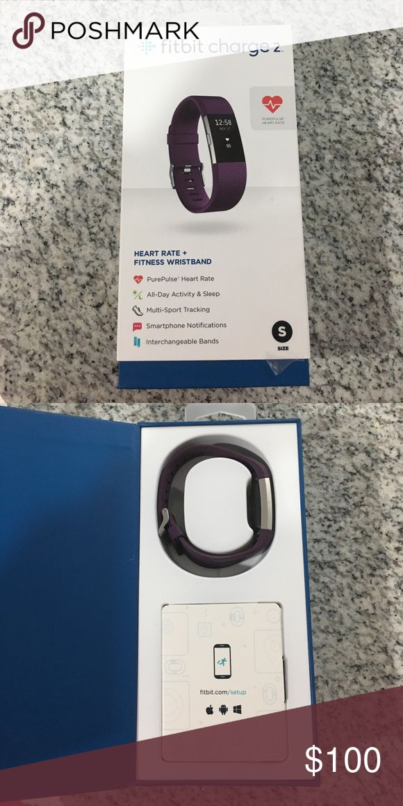 Fitbit charge 2 Lightly used only for a couple of weeks til hubs got me a Apple Watch & I took to long to return, nothing wrong with it. Comes with charger and is like new!! Color purple, size S fitbit Accessories Watches