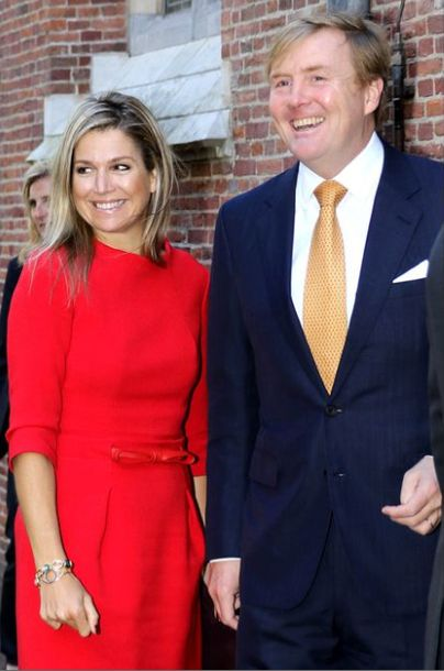 King Willem-Alexander  and Queen Maxima attended the symposium about 'China in The Netherlands' at the University of Leiden on October 1, 2015 in Leiden, Netherlands.