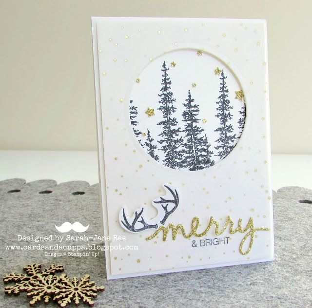 """Wonderland"" Christmas Card using NEW Stampin' Up! Autumn/Winter catalogue products."