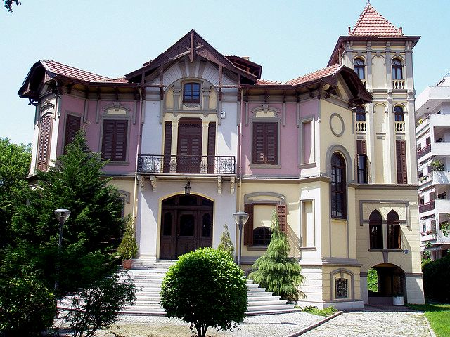 "TRAVEL'IN GREECE | The ""Ahmet Kapantzi Mansion"" It was built in 1890 by Italian architect Pietro Arrigoni for wealthy Thessaloniki-born Ottoman merchant Ahmet Kapanci, #Thessaloniki, #Greece, #travelingreece"