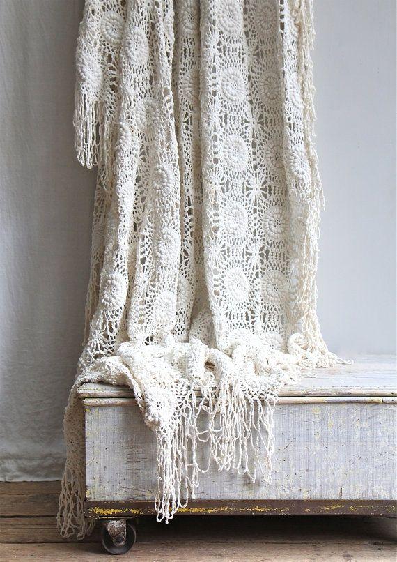 sprei - gehaakt - vintage - crochet - bedspread