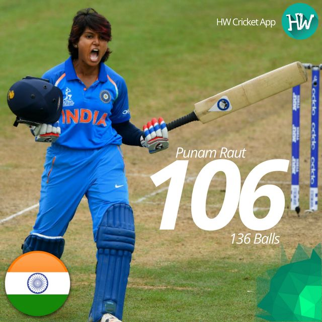 Punam Raut hit a stunning century but it was in vain as India failed to defend their total against Australia. #WWC17 #AUSvIND #AUS #IND #cricket