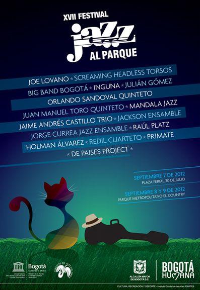 Afiche / Poster XVII Festival Jazz al Parque Concepto, diseño, ilustración y desarrollo. Trabajo realizado para el Instituto Distrital de las Artes IDARTES. Bogotá, 2012. #poster #typography #design #graphicdesign #poster #typography #design #graphicdesign #ilustration