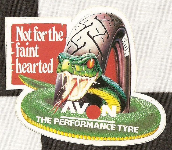 AVON PERFORMANCE TYRES NOT FOR FAINT HEARTED ORIGINAL PERIOD STICKER AUTOCOLLANT