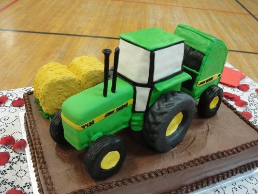 tractor with hay baler birthday cake!!!