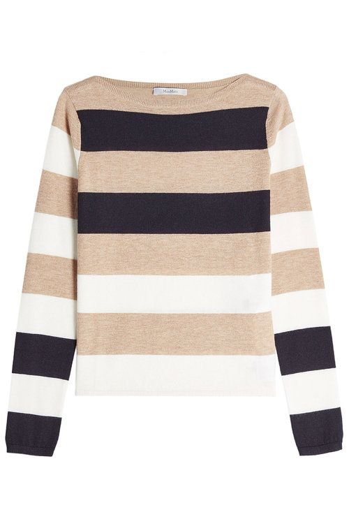 MAX MARA Striped Cashmere Pullover. #maxmara #cloth #