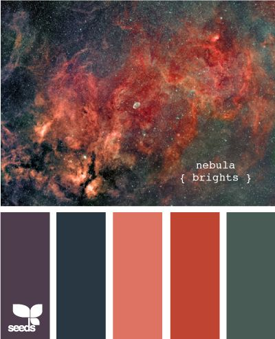 nebula brights - reminds me of a handpainted yarn I recently bought at Brown Sheep Why am I just now discovering this website??