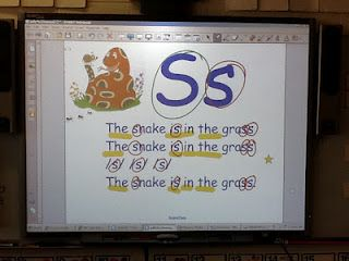 on smartboard circle the letters