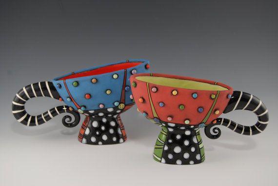 Fun colorful ceramics.