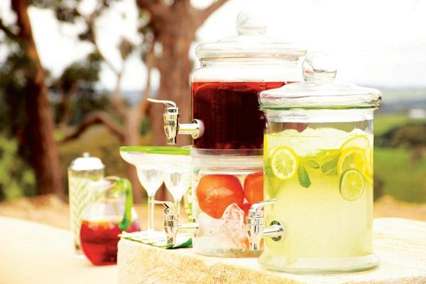 Wheel and Barrow drink jars