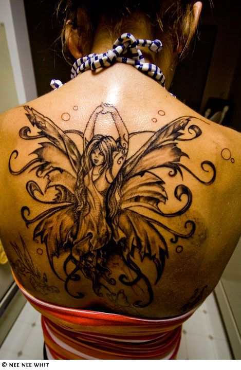 805 best ink images on pinterest for Badass angel tattoos
