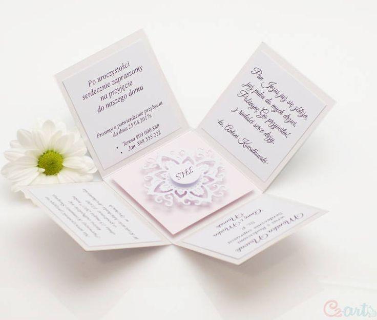 Zaproszenie komunijne pudełko różowe Cz-art Laboratorium kreatywności