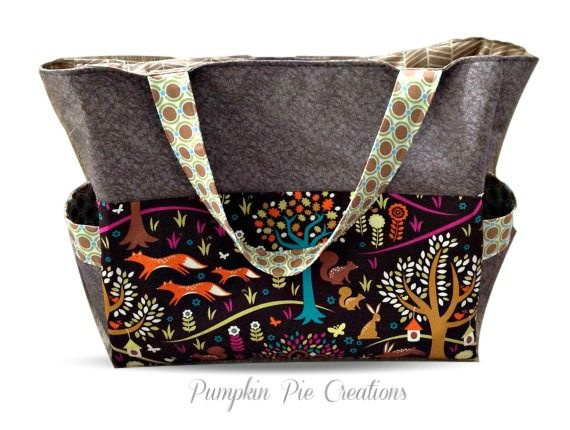 Large Nappy Bag in a whimsical woodland fox theme. The perfect baby shower gift. Handmade in Melbourne, Australia - $80 AUD  https://www.etsy.com/au/listing/176632284/large-nappy-bagdiaper-bag-in-woodland