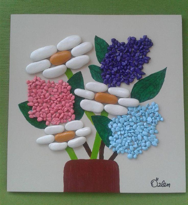 #tasboyama #tastasarim #paint #stoneart #cicekler #lesfleurs #flowers #elyapimi…