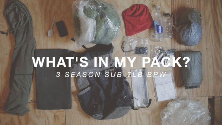 Sub 7 lb Ultralight Thru-Hiking Pack Contents