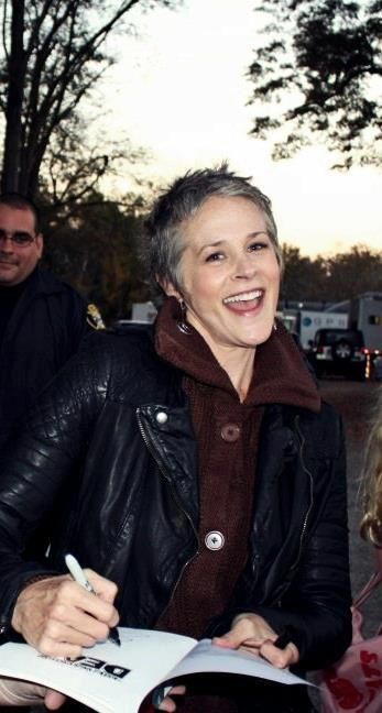 Melissa McBride, AKA Carol of The Walking Dead. Considering all she's been through, I think she deserves a little happiness, AKA Daryl Dixon. ;)