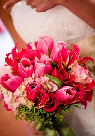 Gloriosa Lilies, Tulips, Roses