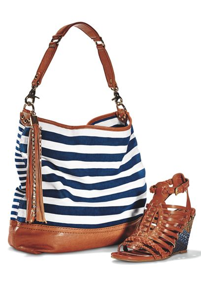 Find nautical handbags and trendy sandals from your favorite designers.