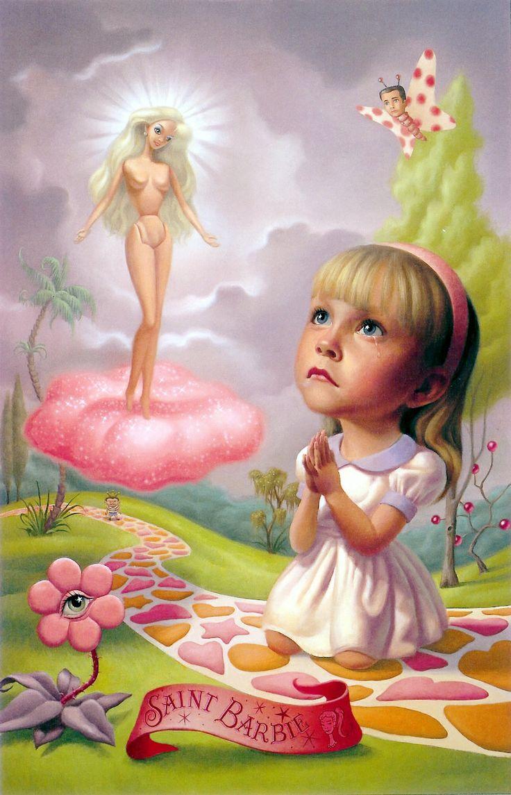 """Iconografía religiosa del Siglo XXI. """"Santa Barbie"""" por Mark Ryden"""
