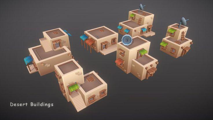 Desert Buildings by zugzug