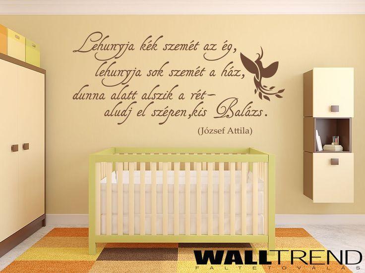 W 0613 Aludj el szépen kis Balázs faltetoválás - WALLtrend - faltetoválás, falmatrica, faldekoráció