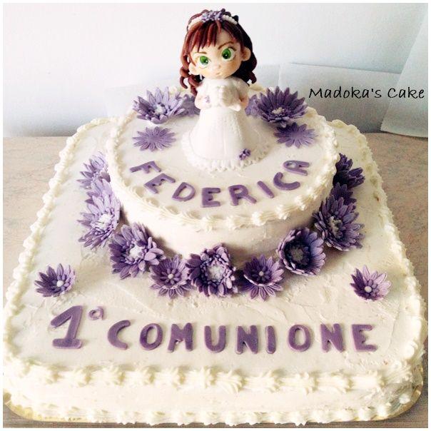 torta chantilly per comunione bambina