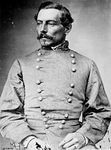 Pierre Gustave Toutant-Beauregard (1818 –1893) was a Louisianan-born military officer, politician, inventor, writer, civil servant, and a general of the Confederate Army during the Civil War. Beauregard commanded armies in the Western Theater, including at the Battle of Shiloh in Tennessee, and the Siege of Corinth in northern Mississippi. Beauregard returned to Louisiana after the war where he served as a railroad executive, and became wealthy as a promoter of the Louisiana Lottery