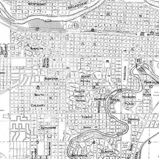 Map Of Calgary 1950 Casey S Calgary Pinterest Maps