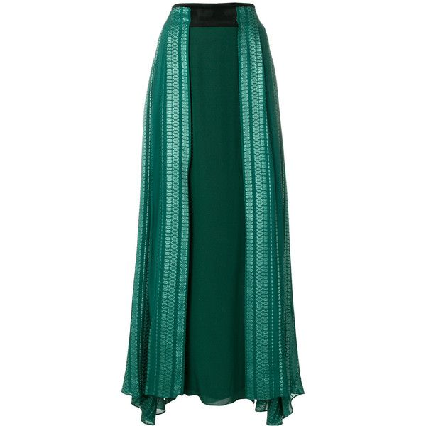 Zeus+Dione Virgo maxi skirt ($817) ❤ liked on Polyvore featuring skirts, green, green skirt, long green skirt, green maxi skirt, floor length skirt and ankle length skirt