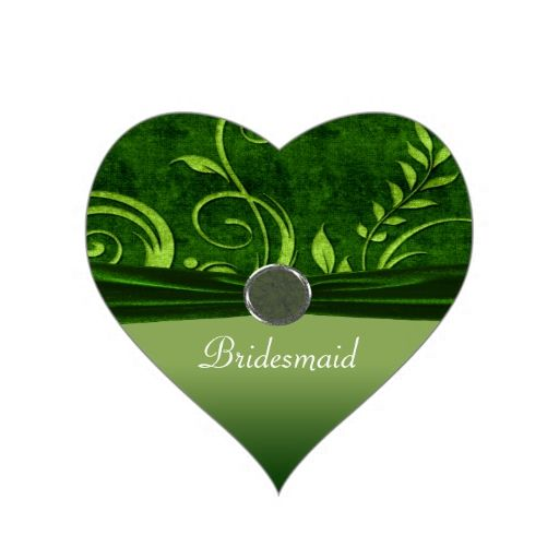 Lime and Green Velvet Wedding Swirl Stickers