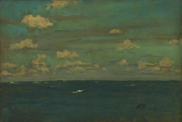 james mcneill whistler - oil on canvas - violet & silver:  the deep sea (1893)
