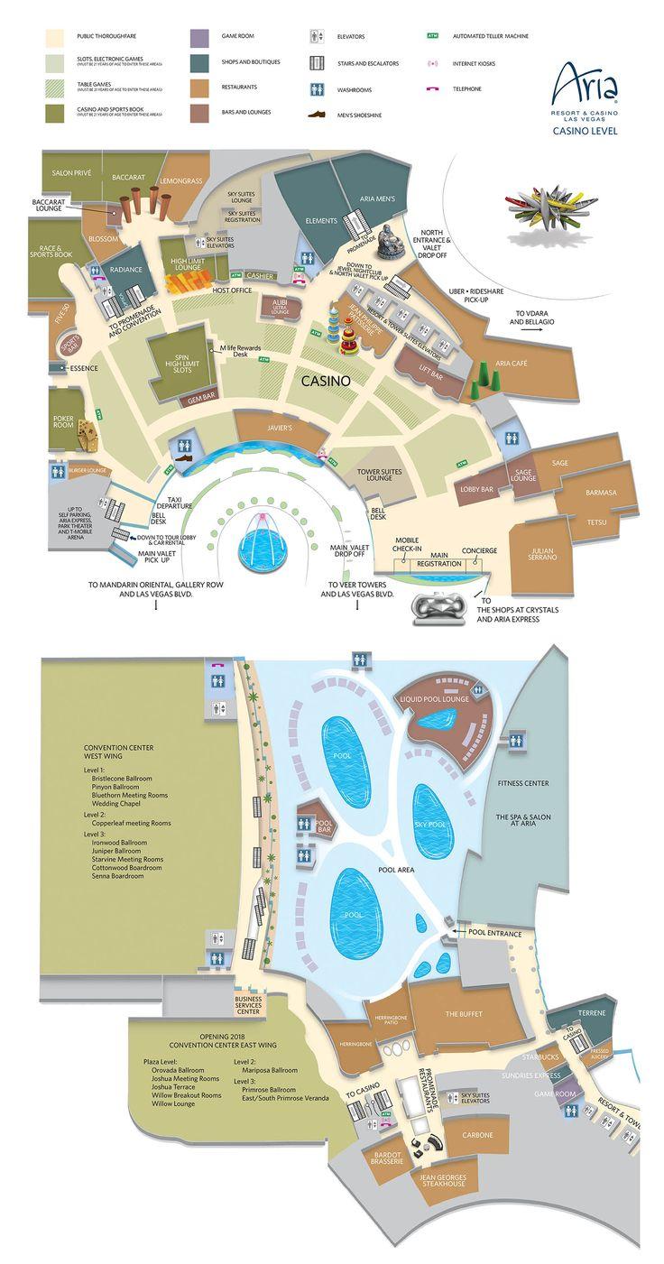 Aria Casino Property Map & Floor Plans Las Vegas Aria