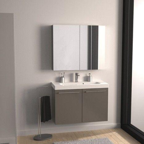 Leroy merlin env 250 euros meuble de salle de bains remix brun taupe n 3 2 portes for Carrelages brun 70s salle de bains