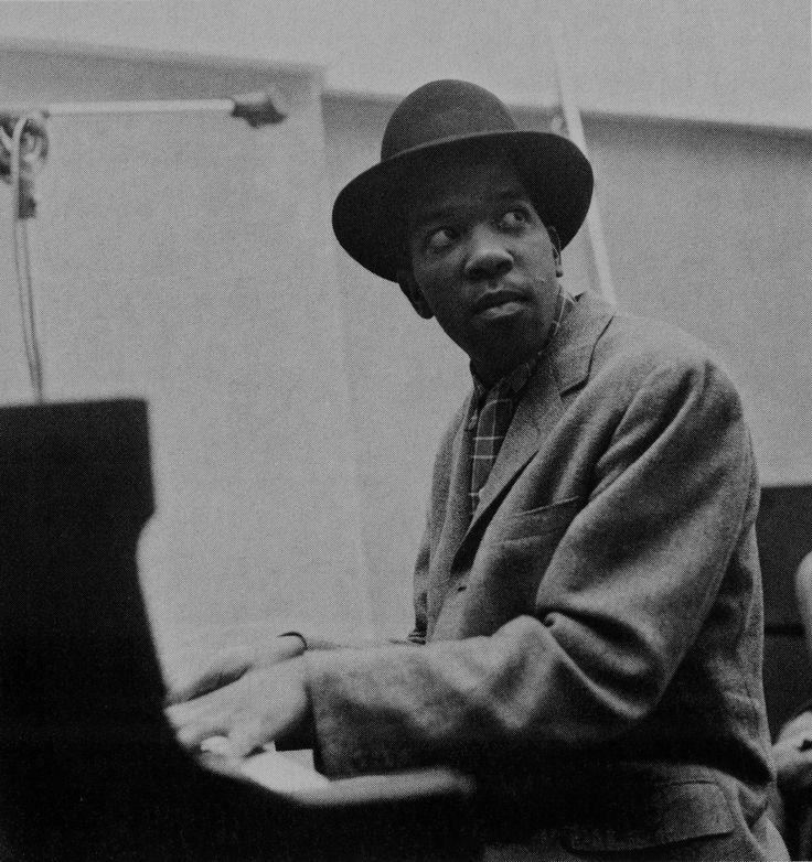 "Sonny Clark at Stanley Turrentine's Stan ""The Man"" Turrentine session, NYC January 1960 (photo by Chuck Stewart)"