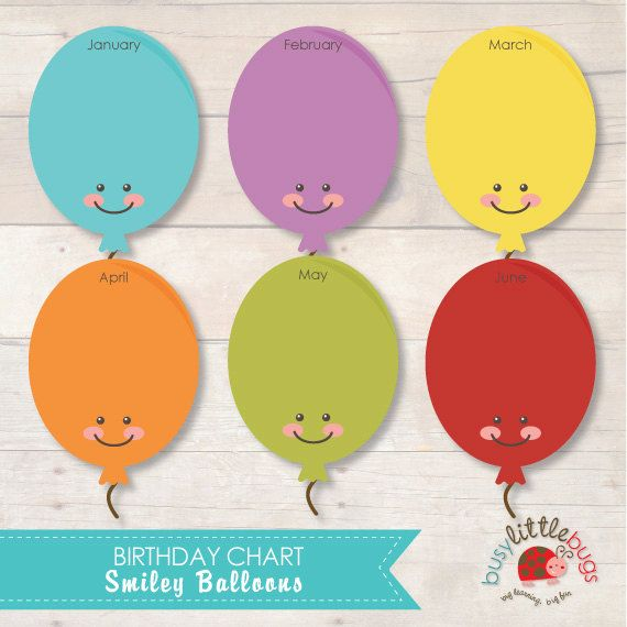 Balloon Birthday Chart for Child Educators AUTOMATIC DOWNLOAD