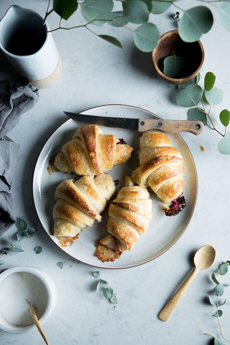 Flourishing Foodie: Raspberry and Brie Stuffed Croissants