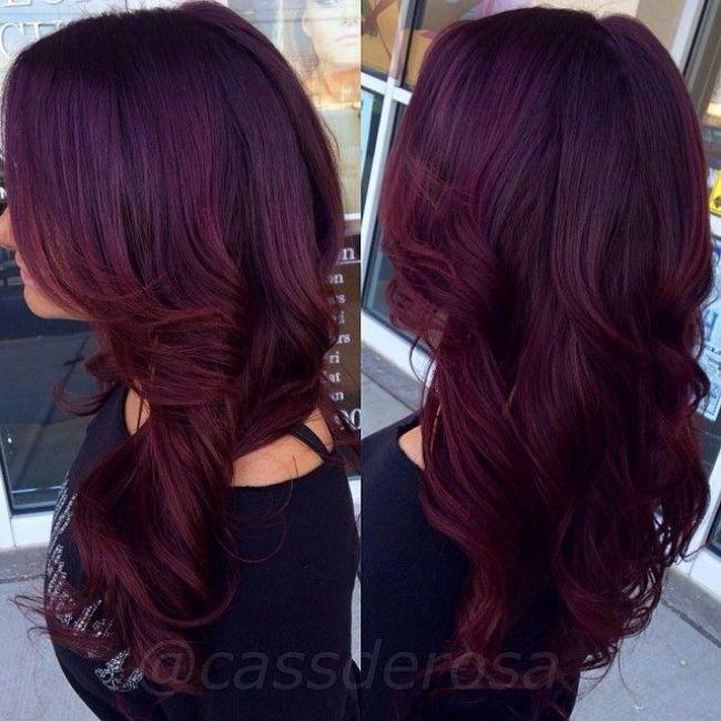 Exceptionnel Les 25 meilleures idées de la catégorie Couleur bordeau cheveux  CX97