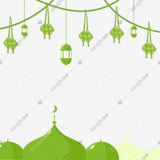 Ketupat Png And Vector For Eid Mubarak Greeting Card With Mosque And Islamic Latern Png Hari Raya Vector Kupat Png And Vector With Transparent Background For Eid Mubarak Greeting Cards Eid