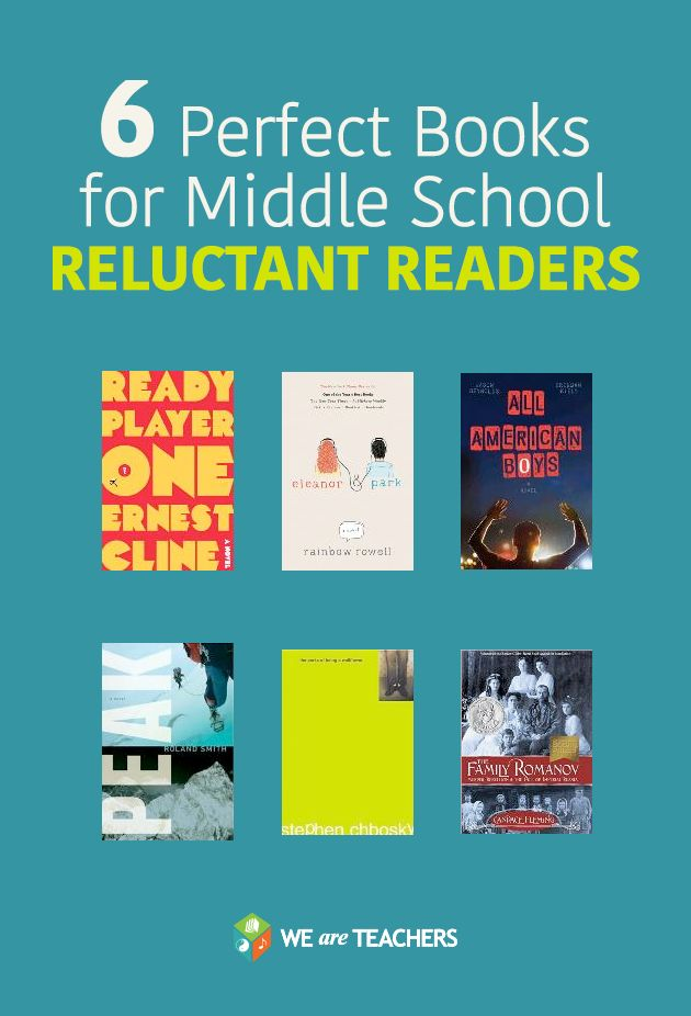 6 Perfect books for middle school reluctant readers.