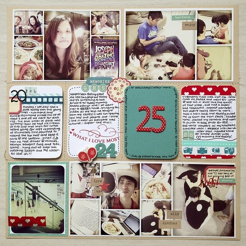 Project Life page layouts4X6 Photos, Photos Projects, Scrapbook Projectlife, Project Life Layouts, Big Numbers, Photos Collage, Projects Life Pages Ideas, Photos Layout, Cards