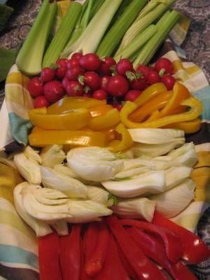 verdure per pinzimonio